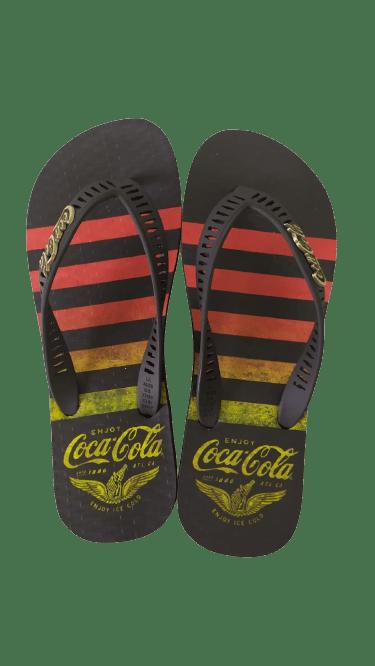 Chinelo Coca-Cola CC3342 Preto/Laranja
